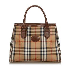Burberry Haymarket Check Canvas Tote Bag