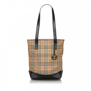 Burberry Haymarket Check Canvas Tote Bag