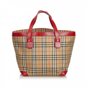 Burberry Haymarket Check Cotton Tote