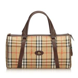 Burberry Haymarket Check Jacquard Boston Bag