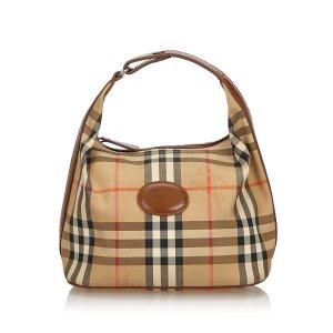 Burberry Haymarket Check Jacquard Handbag