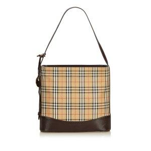Burberry Haymarket Check Jacquard Shoulder Bag
