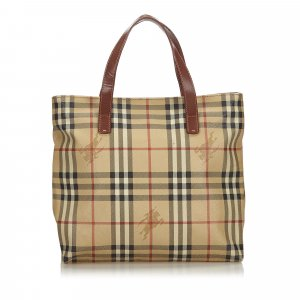 Burberry Tote beige polyvinyl chloride
