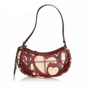Burberry Heart Nova Check Baguette