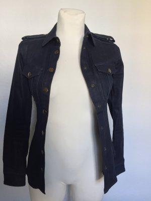 Burberry Camisa de manga larga azul oscuro