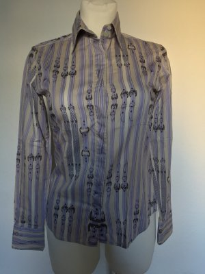 Burberry Long Sleeve Blouse oatmeal-purple