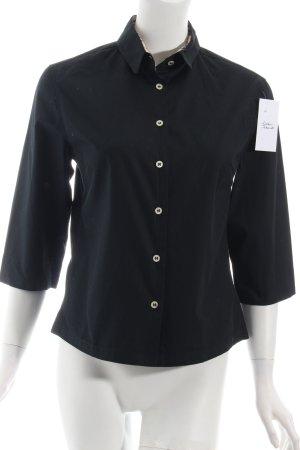 Burberry Hemd-Bluse schwarz klassischer Stil