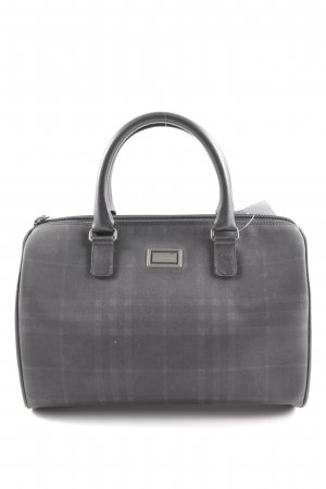 Burberry Carry Bag slate-gray-anthracite check pattern Brit look