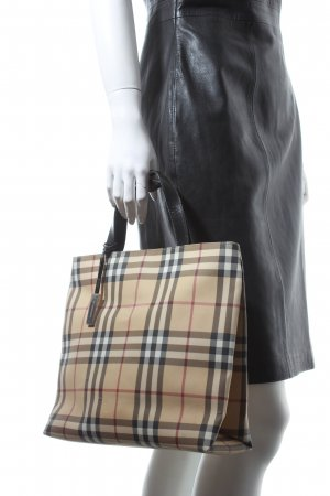 Burberry Carry Bag check pattern Brit look