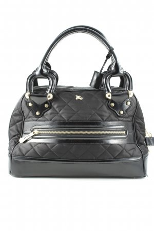 Burberry Carry Bag black quilting pattern elegant
