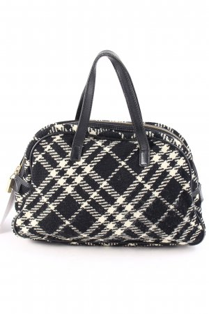 Burberry Carry Bag black-natural white check pattern casual look