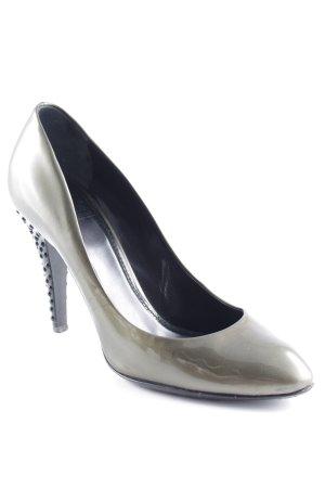 Burberry High Heels olivgrün-schwarz Elegant