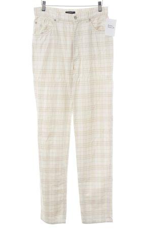 Burberry High-Waist Hose creme-beige Karomuster Vintage-Look