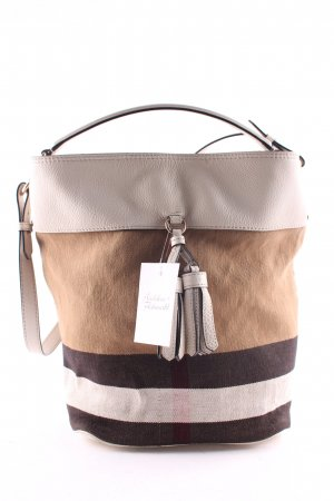 "Burberry Hobos ""Ashby Medium Tassel Hobo Brit Grainy Canvas Check White/White"""
