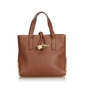 Burberry Bolso de compra marrón Cuero