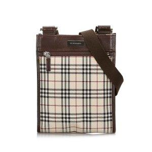 Burberry House Check Canvas Crossbody Bag
