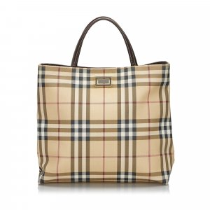 Burberry House Check Canvas Handbag