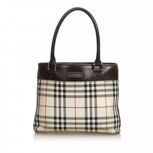 Burberry House Check Coated Canvas Tote Bag