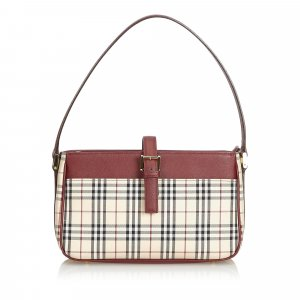 Burberry House Check Cotton Shoulder Bag