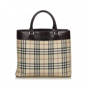 Burberry House Check Jacquard Tote Bag