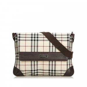 Burberry House Check Nylon Crossbody Bag