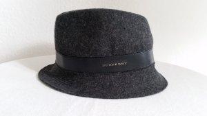 Burberry, Hut, anthrazit, Merinowolle/Leder, M/L (57-59 cm), neuwertig, € 600,-