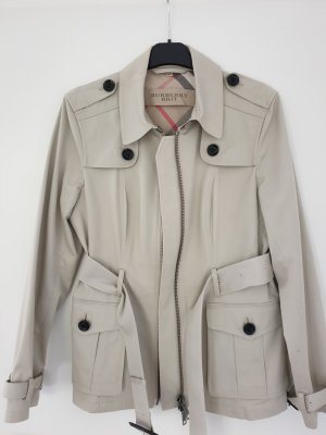 Burberry Brit Long Jacket oatmeal cotton