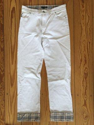 Burberry Jeans, weiß, Vintage, Karo, beige, Taille, Hose Größe 36