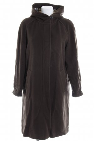 Burberry Hooded Coat dark brown classic style