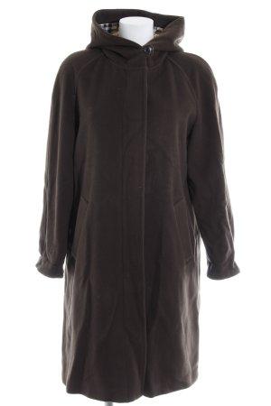 Burberry Manteau à capuche brun foncé style classique
