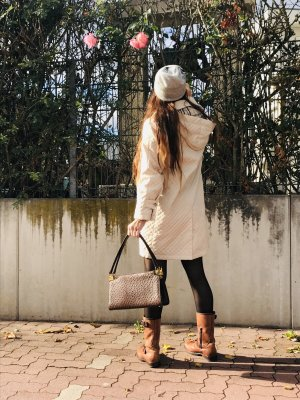 Burberry Hooded Coat check pattern elegant polyester