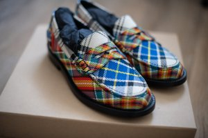 Burberry Slip-on Shoes multicolored leather