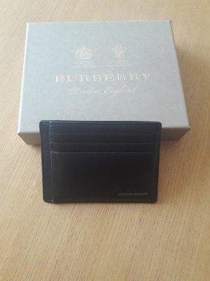 Burberry Kartenetui aus Leder mit Geldklammer
