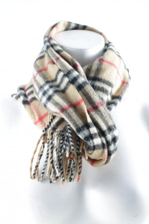 Burberry Cashmere Scarf check pattern Brit look