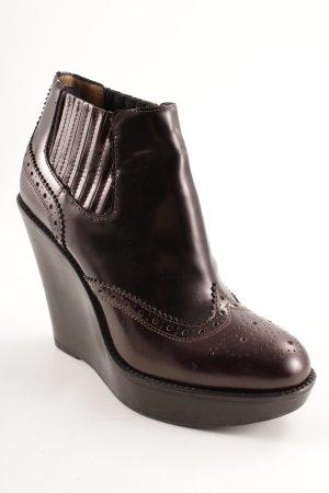 Burberry Keil-Stiefeletten dunkelbraun klassischer Stil