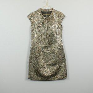 Burberry Kleid Gr. 42 gold/schwarz Blumenmuster (19/03/215/R)