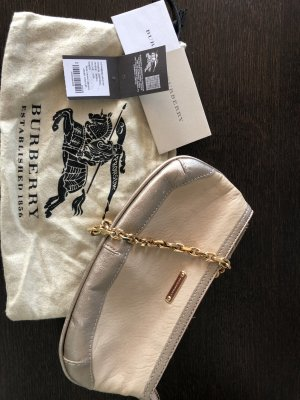 """Burberry kleine Tasche / """"Anabel Wristlet"""" Clutch Bag / beigefarbenes Leder / Pochette"""