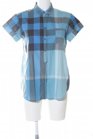 Burberry Short Sleeve Shirt blue-light grey check pattern casual look