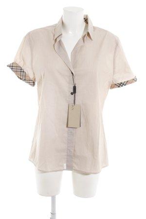 Burberry Short Sleeve Shirt beige check pattern Brit look