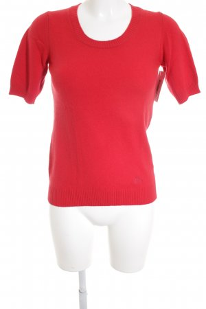 Burberry Short Sleeve Sweater red classic style