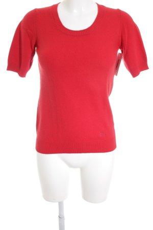 Burberry Pull à manches courtes rouge style classique