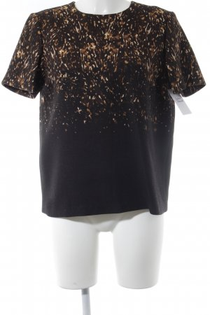 Burberry Short Sleeve Sweater black-light brown abstract pattern casual look