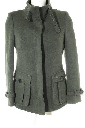 Burberry Abrigo corto verde oscuro estilo jinete