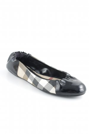 Burberry Patent Leather Ballerinas check pattern classic style