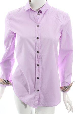 Burberry Langarm-Bluse helllila-rosa klassischer Stil