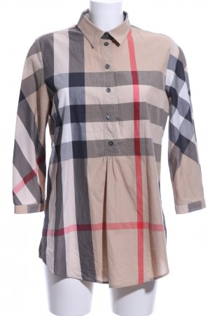 Burberry Long Sleeve Blouse check pattern business style