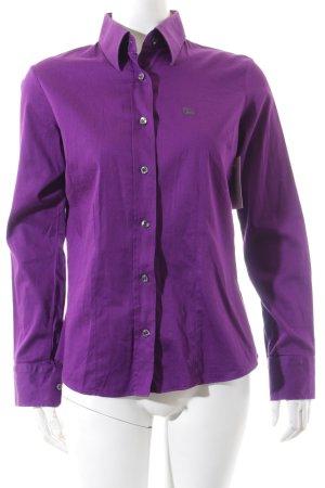 Burberry Camisa de manga larga lila estilo clásico