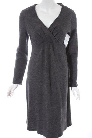 Burberry Robe à manches longues gris foncé moucheté style simple