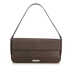 Burberry Handbag dark brown leather