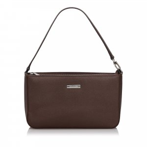 Burberry Handbag dark brown leather
